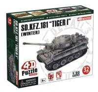 Объемный пазл 3d Танк SD.KFZ.181'Tiger I'[Winter] , 4D Master 26323