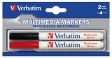 Маркер для дисков Verbatim MULTI MEDIA MARKER 2шт. (BLACK/RED) (44125)