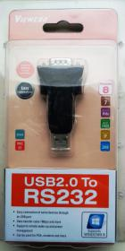 Переходник с USB на COM (RS 232),9pin male Viewcon VE042